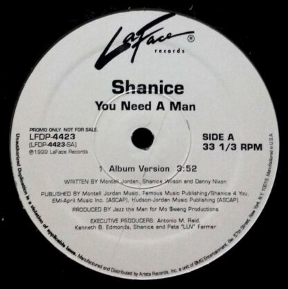 "Shanice - You Need A Man (12"", Promo)"