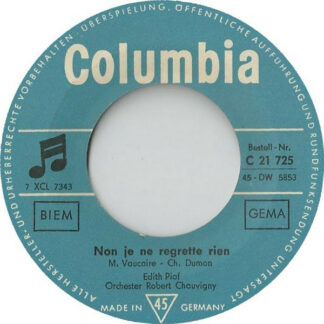 "Edith Piaf - Non Je Ne Regrette Rien / Jerusalem (7"", Single, M/Print)"