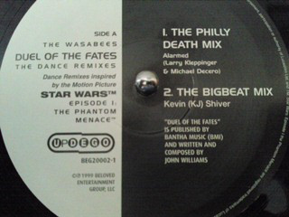 "The Wasabees - Duel Of The Fates (The Dance Remixes) (12"")"