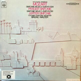 Wolfgang Amadeus Mozart - Columbia Symphonie Orchester*, Bruno Walter - Sinfonie Nr. 38 D-Dur KV 504, Sinfonie Nr. 41 C-Dur KV 551 (LP)