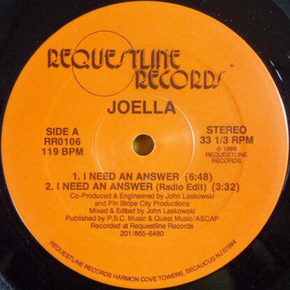"""Joella - I Need An Answer (12"""")"""