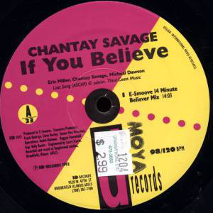 "Chantay Savage - If You Believe (12"")"