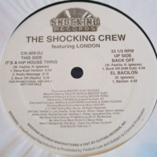 """The Shocking Crew featuring London - It's A Hip House Thing (12"""", Promo)"""