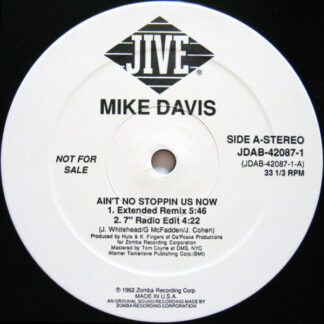 """Mike Davis - Ain't No Stoppin' Us Now (12"""", Promo)"""