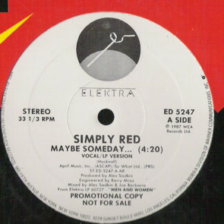 """Simply Red - Maybe Someday ... (12"""", Single, Promo)"""