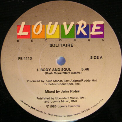 """Solitaire (6) - Body And Soul (12"""")"""