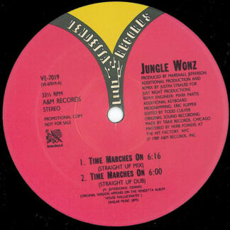 """Jungle Wonz - Time Marches On (The Justin Strauss Remixes) (12"""", Promo)"""