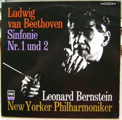 Ludwig Van Beethoven - Leonard Bernstein - Sinfonie Nr.2 D-Dur Op. 36 & Sinfonie Nr.1 C-Dur Op.21 (LP)