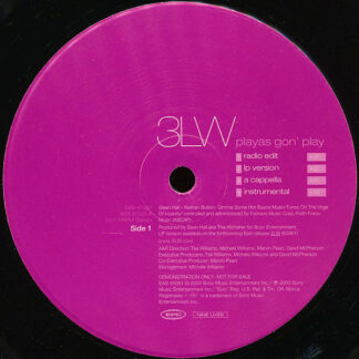 "3LW - Playas Gon' Play (12"", Promo)"