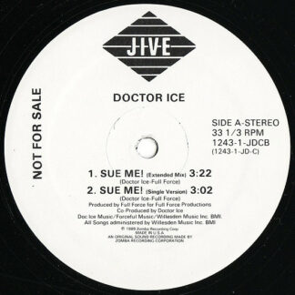 """Doctor Ice - Sue Me! / Word Up Doc! (12"""", Promo)"""