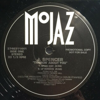 """J. Spencer - Thinkin' About You (12"""", Promo)"""