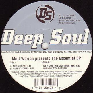 "Matt Warren - The Essential EP (12"")"