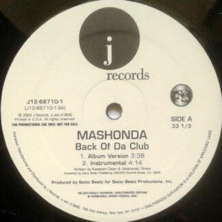 "Mashonda - Back Of Da Club (12"", Promo)"