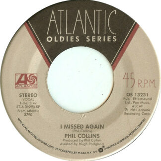 "Phil Collins - I Missed Again / In The Air Tonight (7"", RE)"