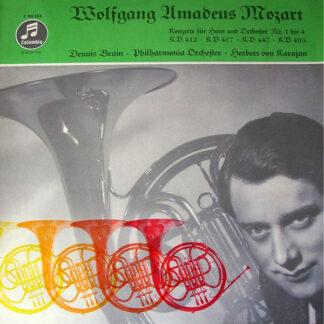Mozart* - Dennis Brain, Philharmonia Orchester*, Herbert von Karajan - Konzerte Für Horn Und Orchester Nr. 1 Bis 4, KV 412, KV 417, KV 447, KV 495 (LP, Mono)