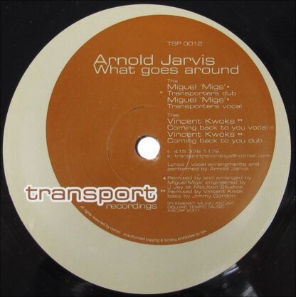 """Arnold Jarvis - What Goes Around (12"""")"""