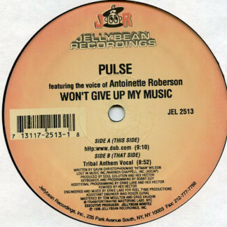 """Pulse (3) - Won't Give Up My Music (12"""")"""