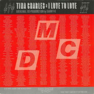"Tina Charles - I Love To Love (Original Re>Production By Sanny-X) (12"", Maxi)"