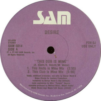 "Desire (3) - This Dub Is Mine (12"", Promo)"