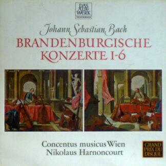 Johann Sebastian Bach - Concentus Musicus Wien, Nikolaus Harnoncourt - Brandenburgische Konzerte 1-6 (2xLP, RE, RP + Box)