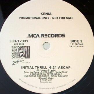 "Kenia - Initial Thrill (12"", Promo)"
