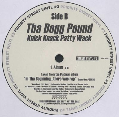 """Tha Dogg Pound - Knick Knack Patty Wack (12"""", Single, Promo)"""
