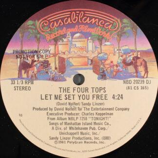 """Four Tops - Let Me Set You Free (12"""", Promo)"""