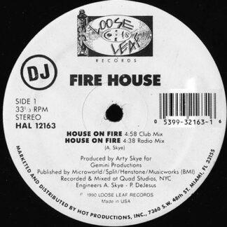 "Fire House - House On Fire (12"", Promo)"