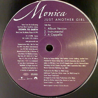 """Monica - Just Another Girl (12"""", Promo)"""