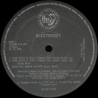 """Electroset - How Does It Feel? (Theme From Techno Blues) (12"""", Promo)"""