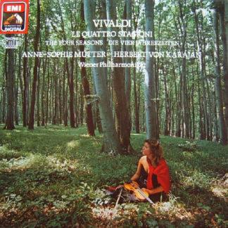 Vivaldi*, Anne-Sophie Mutter, Herbert Von Karajan, Wiener Philharmoniker - Le Quattro Stagioni = The Four Seasons = Die Vier Jahreszeiten (LP, Album, Gat)