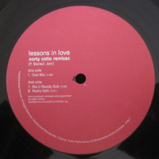 "Angel* - Lessons In Love (Norty Cotto Remixes) (12"")"