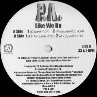 """P.A.* - Like We Do (12"""", Promo)"""