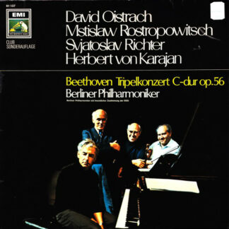 Beethoven* - David Oistrach, Mstislaw Rostropowitsch*, Svjatoslav Richter*, Herbert von Karajan, Berliner Philharmoniker - Tripelkonzert C-dur Op. 56 (LP, Club)