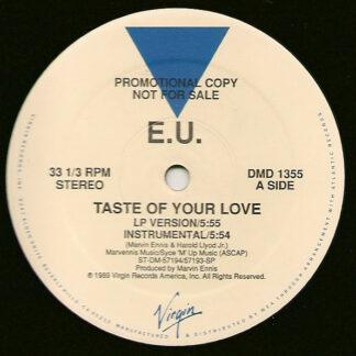 """E.U. - Taste Of Your Love / Da Butt '89 (12"""", Promo)"""