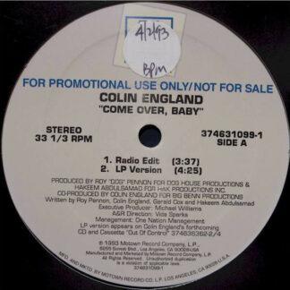 "Colin England - Come Over, Baby (12"", Promo)"