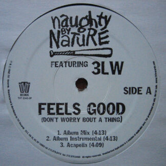 """Naughty By Nature Featuring 3LW - Feels Good (Don't Worry Bout A Thing) (12"""")"""