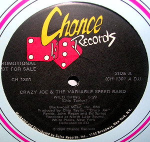 """Crazy Joe* & The Variable Speed Band - Wild Thing (12"""", Promo)"""