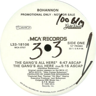 """Bohannon* - The Gang's All Here (12"""", Promo)"""