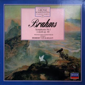 Brahms*, Wiener Philharmoniker, Herbert von Karajan - Symphonie Nr. 1 C-moll Op. 68 (LP, RE)