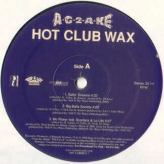 "A-G-2-A-KE - Hot Club Wax (12"", Promo, Smplr)"