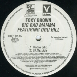 "Foxy Brown - Big Bad Mamma (12"", Promo)"