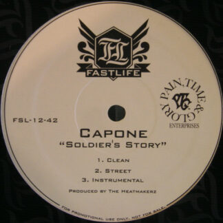 """Capone (3) - Soldiers Story / Been A Long Time (12"""", Promo)"""