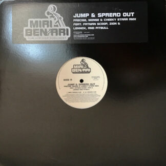 "Miri Ben-Ari Feat. Fatman Scoop, Zion & Lennox*, Pitbull - Jump & Spread Out (12"", Promo, Whi)"