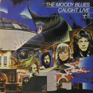 The Moody Blues - Caught Live +5 (2xLP, Album, W, )
