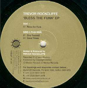 """Trevor Rockcliffe - Bless The Funk EP (12"""", EP)"""