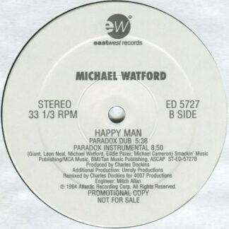 "Michael Watford - Happy Man (12"", Promo, Bla)"