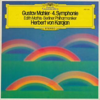 Gustav Mahler - Edith Mathis, Berliner Philharmoniker, Herbert von Karajan - 4. Symphonie (LP, Album)