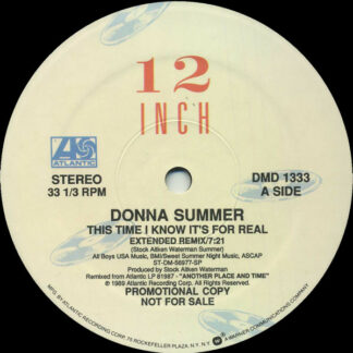 "Donna Summer - This Time I Know It's For Real (12"", Promo)"