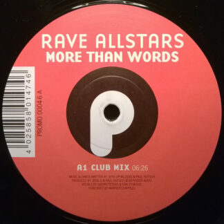 """Rave Allstars - More Than Words / Achtung Spass!!! (12"""")"""